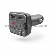 Hama Bluetooth FM Transmitter with USB Charging, Gray