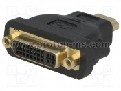 Adapter HDMI M to DVI-D F 24+5
