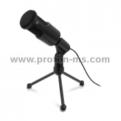 Desktop Microphone EWENT EW3550, Noise canceling, Black