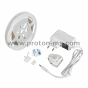 LED Flexible Strip SMD2835, 9.6W / M Neutral White, 12V DC, 120 LEDs / m, 5m, Waterproof IP65