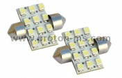 Diode Bulb 3x4 (12) SMD LED 40mm, white