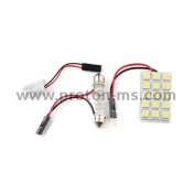 Diode panel for plated 5x3 SMD LED, white