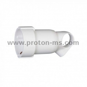 LEGRAND Contact Shuko Coupling, White 16A with Ring