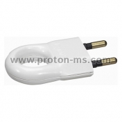 Plug with Ring, White 2Р 6А LEGRAND