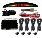 Parking Sensor, Auto Reversing Detector with Digital Display and Step-up Alarm