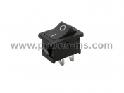 Power Switch, 1 position ON/OFF, Black