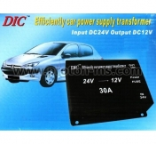 Efficiently car power supply transformer 24V-12V 30A
