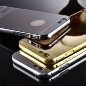 Луксозен Кейс за iPhone 7 / 8 Luxury Mirror Case Aluminum Metal Frame Plating Back Cover Phone Cases for iPhone