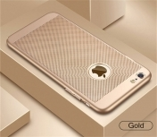 Дишащ Луксозен Твърд Кейс за iPhone 7 / 7S Luxury Phone Case Ultra Thin Slim Cover Fashion Cool Breathable, Златист