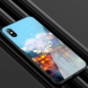 Твърд Кейс за iPhone X / XS  Luxury Tempered Glass Case