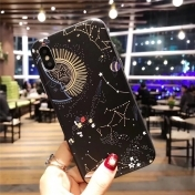 Твърд Кейс за iPhone 7 / 7S Tempered Glass Space Planet Stars Phone Case