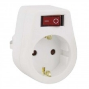 3-Way Power Plug, 1 Schuko to 3 bipolar, 7.5A, 250VAC