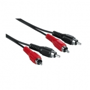 Audio/Video Connecting Cable, 2 RCA plugs - 2 RCA plugs, 1.5 m HAMA