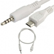 Кабел 3.5mm Stereo Plug Jack to Micro USB 5 Pin Male M/M Adapter Convertor Audio Cable