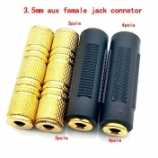 Jack 3.5 mm to 3.5 mm Audio Adapter 3.5mm Male to 3.5mm Male Plug Connector for Aux Speaker Cable Headphone Jack 3.5