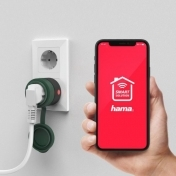 Смарт контакт HAMA Outdoor, WiFi, 2300W/10A, Гласов контрол