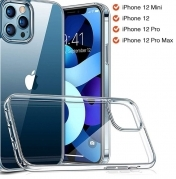 Прозрачен Стъклен Кейс Luxury Glass Case For iPhone 12 Pro Ultra Thin Transparent