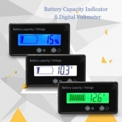12V 24V 36V 48V High Precision LCD Acid Lead Lithium Battery Capacity Indicator Digital Voltmeter Voltage Tester JS C31H