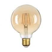 LED Крушка, Filament, 4W, E27,430L, G95, Golden GLASS, 2500K