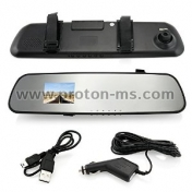 DVR Monitor Rear View Dual Camera Video Recording System