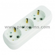 3-socket splitter without cable