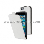 Muvit Leather Case with Display Protector for iPhone 6 MUSLI0559, White