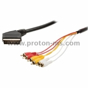 Cable Scart 6-inch RCA Chinch 1.5 m, K-821