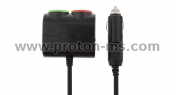 In-Car Two Sockets & USB Car Charger (120W Universal)