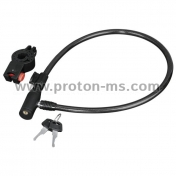 Hama Bicycle Cable Lock, 65 cm, Black
