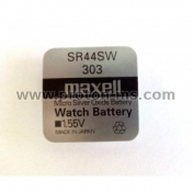 Button Battery, Silver MAXELL SR-44 SW / 303 / 1.55V