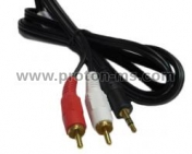Кабел  Audio 2 RCA Male Plugs - 3.5 mm Male Plug, Stereo, 1.5m