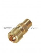 TV Connector, Gold Metal 031002