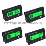 12V LED LCD Acid Battery Lithium Indicator Capacity Dual Display Tester Meter