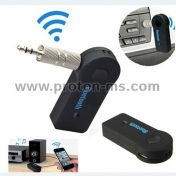 Universal 3.5mm jack Bluetooth Car Kit Hands free Music Audio Receiver
