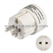 Преход US/AU/UK/EU Plug to US Plug Home Travel Adapter черен