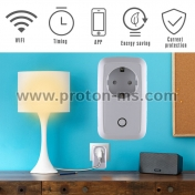 Умен Контакт WiFi Smart Remote Control Power Socket Outlet with Timer Function Control