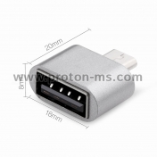 Адаптер Micro USB F - Type C M Адаптер Micro USB F - Type C M Mini Type C Cable To Micro USB Adapter Female to Male Data Sync Charger  USB C Converter