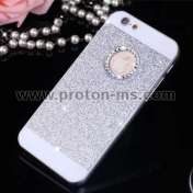 Силиконов Кейс за iPhone   Bling Diamond Soft Transparent