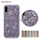 Луксозен силиконов кейс за iPhone X Luxury Diamond Crystal Rhinestone PC+TPU Bumper