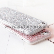 Силиконов Кейс за iPhone X LACK Bling Glitter Soft Phone Case For iphone X Case Fashion Cute Star Back Cover Love Heart Shining Powder