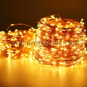 White LED String Lights (warm light) with transformer, 200 pcs. 220V
