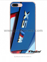 Луксозен Силиконов Кейс БМВ BMW Cover Transparent Capas Soft Silicone Minason Car Logo Case for iPhone X