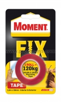 Adhesive Tape 1 Roll = 120 kg, 19 mm, 1.5 m. Moment Fix 0100998