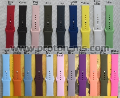 Apple iWatch 38mm Sport Silicone strap For Apple Watch Band