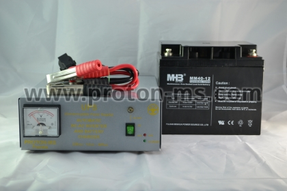 Uninterruptible Power Supply 300W, Model: IN 300 SV complete with 12V, 40Ah battery