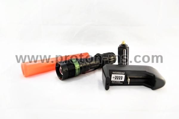 d7364e6c414 LED Фенер Police със светеща палка, 80000W zoom power style