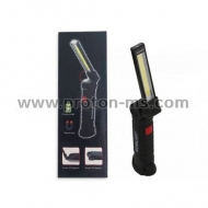 Rechargeable COB Work Light, USB, 25 cm, black