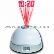 Fashion Colorful Night Light Star Sky Projection Clock