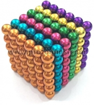 Magnetic Balls (spheres), Neo Cube, Zen Magnets, Neo Spheres, 216 pcs., 6 Colors, 5mm