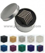 Magnetic Balls (spheres), Neo Cube, Zen Magnets, Neo Spheres, 216 pcs., Blue, 5mm